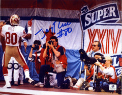 "Jerry Rice San Francisco 49ers Signed Autographed 8"" x 10.5"" Super Bowl Photo"