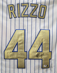 Anthony Rizzo Chicago Cubs Signed Autographed Champions Gold #44 Jersey Global COA