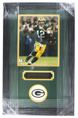 "Aaron Rodgers Green Bay Packers Signed Autographed 22"" X 14"" Framed Photo Global COA"