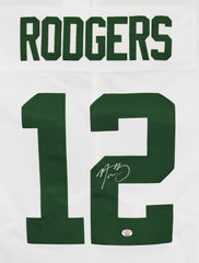 Aaron Rodgers Green Bay Packers Signed Autographed White #12 Jersey PAAS COA