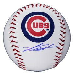 Kyle Schwarber Chicago Cubs Signed Autographed Rawlings Official Major League Logo Baseball Global COA with Display Holder