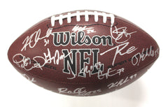 Seattle Seahawks 2016 Team Signed Autographed Wilson NFL Football AI COA Wilson Baldwin Sherman Chancellor
