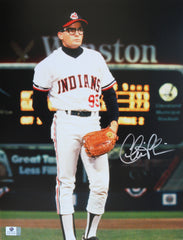 "Charlie Sheen Cleveland Indians Signed Autographed Major League Ricky Vaughn Wild Thing 11"" x 14"" Photo Global COA"