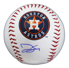 George Springer Houston Astros Signed Autographed Rawlings Official Major League Logo Baseball Global COA with Display Holder