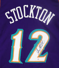 John Stockton Utah Jazz Signed Autographed Purple #12 Custom Jersey PAAS COA