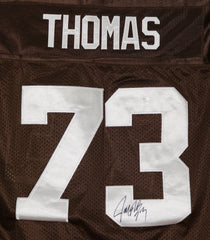 Joe Thomas Cleveland Browns Signed Autographed Brown #73 Jersey JSA COA SIze 48