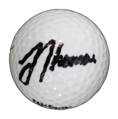 Justin Thomas Signed Autographed Wilson Golf Ball CAS COA with Display Holder
