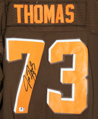 Joe Thomas Cleveland Browns Signed Autographed Brown #73 Jersey Global COA