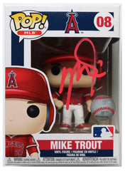 Mike Trout Los Angeles Angels Signed Autographed MLB FUNKO POP #08 Vinyl Figure Global COA