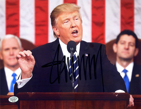 "Donald Trump United States President Signed Autographed 8"" x 10"" Speaking Photo PP COA"