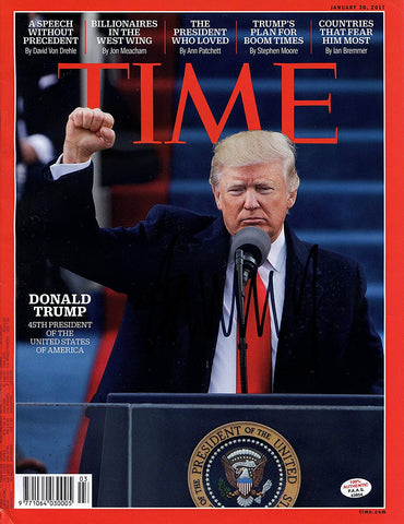 Donald Trump Signed Autographed TIME Magazine PAAS COA