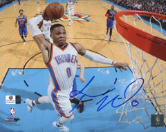 "Russell Westbrook Oklahoma City Thunder Signed Autographed 8"" x 10"" Dunk Photo Global COA"