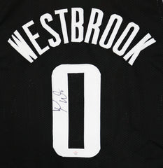 Russell Westbrook Houston Rockets Signed Autographed Black #0 Custom Jersey PAAS COA