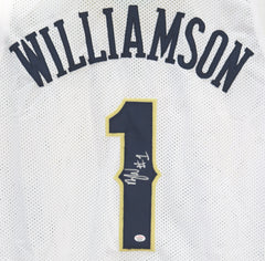 Zion Williamson New Orleans Pelicans Signed Autographed White #1 Custom Jersey PAAS COA