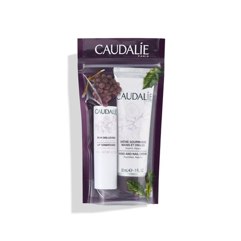 Caudalie Hand Cream & Lip Conditioner Duo