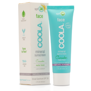 Coola Mineral Face SPF30 Matte Cucumber Lotion