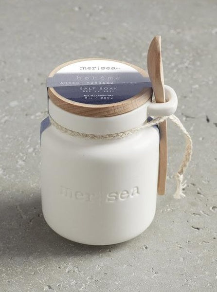 MER-SEA BATH SALTS IN CERAMIC CANISTER