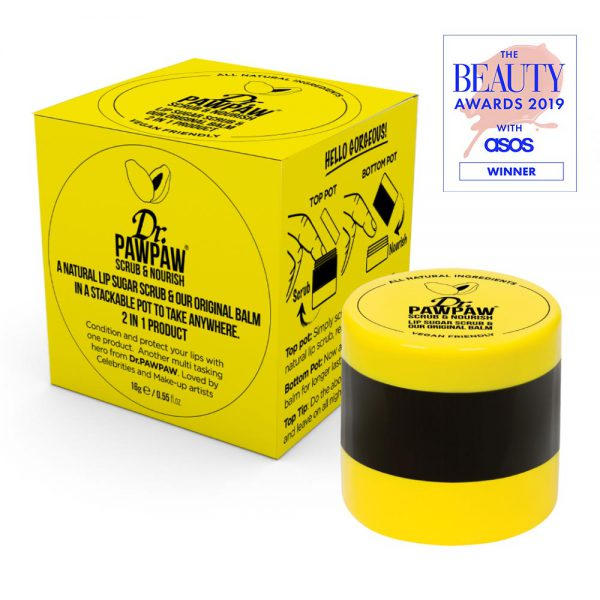 Dr. PAWPAW Scrub & Nourish 2-in-1 Lip Scrub & Original Balm