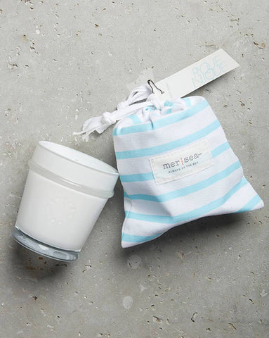 MER-SEA CANDLE IN COTTON BEACH BAG