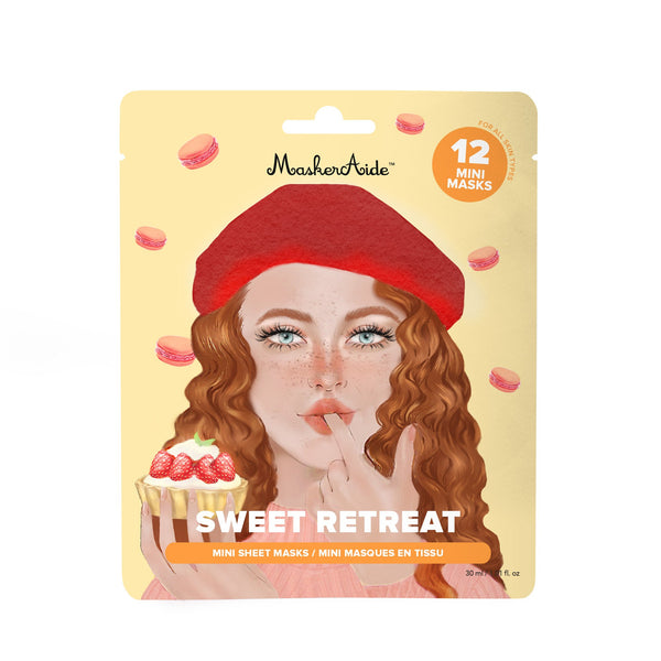 MaskerAide Sweet Retreat 12 Mini Sheet Masks