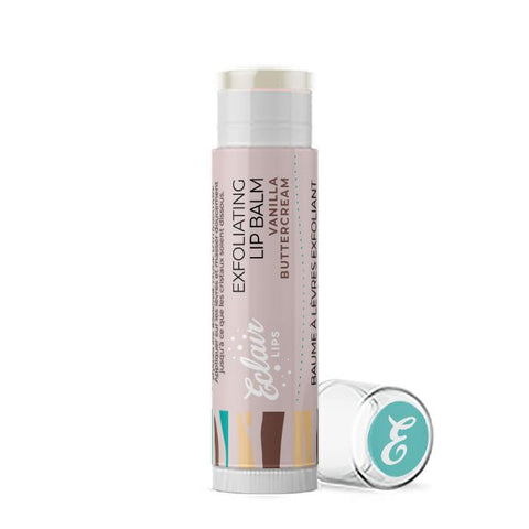 Eclair Lips Natural Lip Balm | Exfoliating Lip Balm (Vanilla Buttercream)