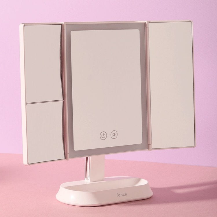 Fancii ZORA Rechargeable LED Tri-Fold Mirror 1x/5x/7x