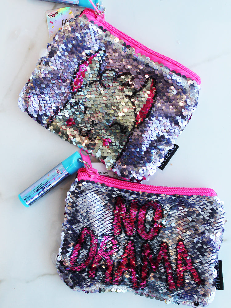 Magic Sequin Reveal Pouch with Lip Balm