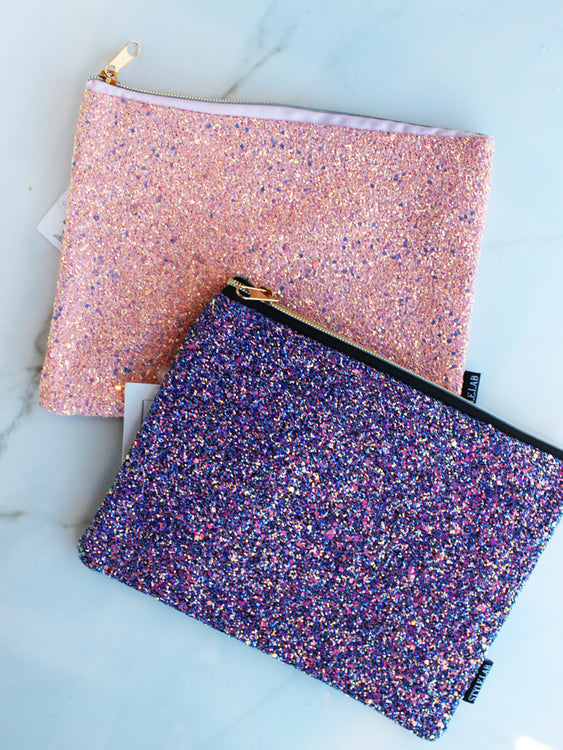Glittering Cosmetic Pouch