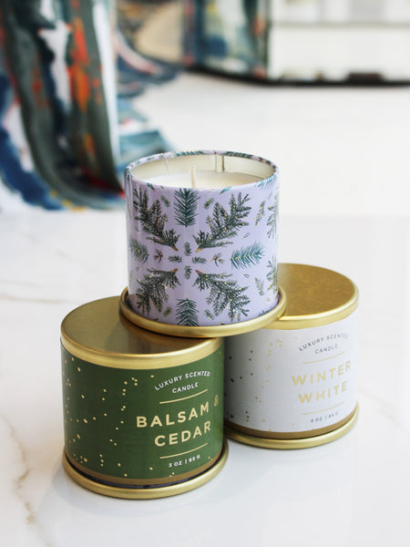 Holiday Demi Vanity Tin Candle 20hrs