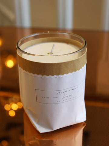 Magnolia Home Kraft-Textured Soy Candle (45Hrs)