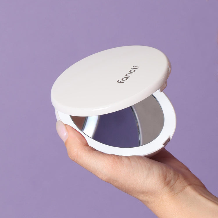 "Fancii Mini Lumi 4"" Compact 1X/10X Mirror"
