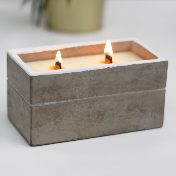 Large Box Wooden Wick Candle - Spiced South Sea Lime
