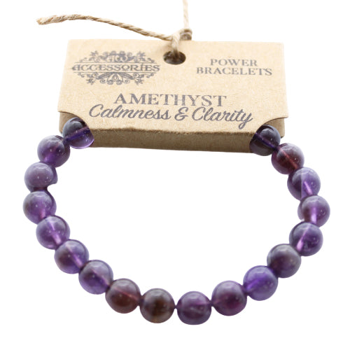 Gemstone Power Bracelet - Amethyst - Calmness & Clarity