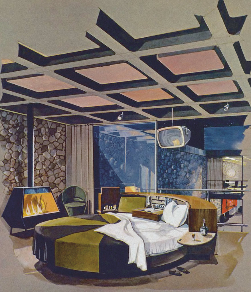 The Master Bedroom Of The Playboy Penthouse Apartment Designed By Chrysalis  Architects, 1956. Courtesy Of Playboy.