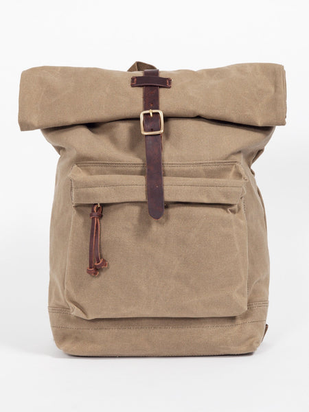 OLD CANVAS ROLL TOP RUCKSACK