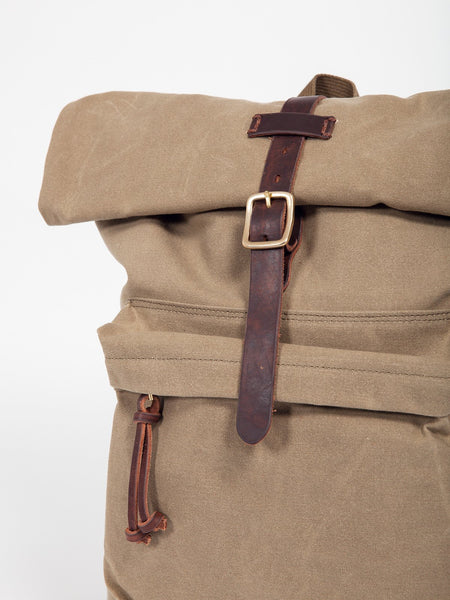 Slow OLD CANVAS ROLL TOP RUCKSACK - GENTRY NYC - 2