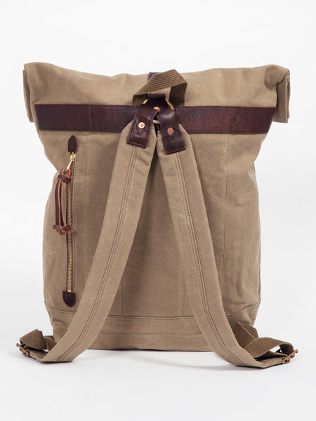 Slow OLD CANVAS ROLL TOP RUCKSACK - GENTRY NYC - 5