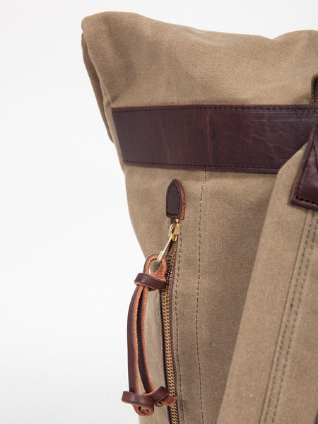 Slow OLD CANVAS ROLL TOP RUCKSACK - GENTRY NYC - 4