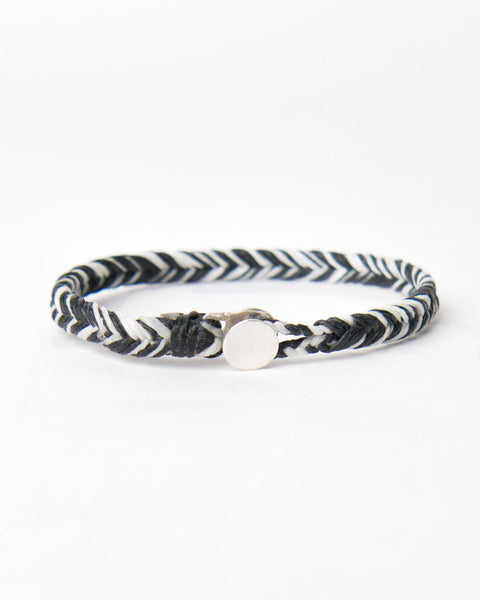 Fishtail Button Bracelet- Silver