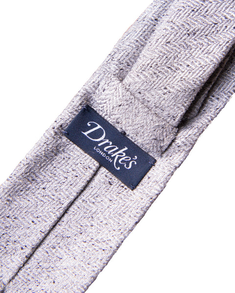 Silk Woven Donegal Tie - Grey