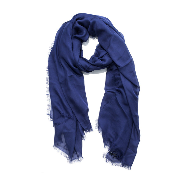 Drake's - MODAL CASHMERE SCARF - NAVY - MAN of the WORLD Online Destination for Men's Lifestyle - 1