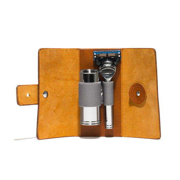 Muhle - Leather Roll Travel Shave Set - MAN of the WORLD Online Destination for Men's Lifestyle - 4
