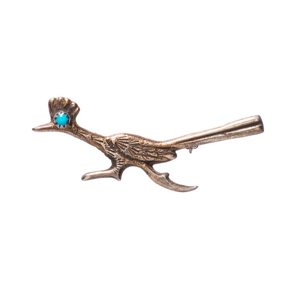 Sterling Silver Roadrunner Pin