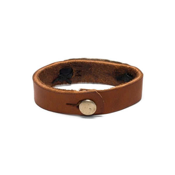 Leather ID Cuff