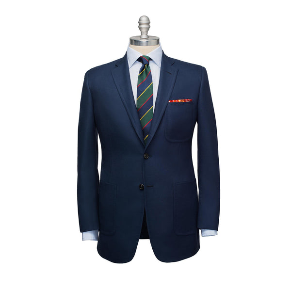 Navy Light Wool Hopsack Sport Coat