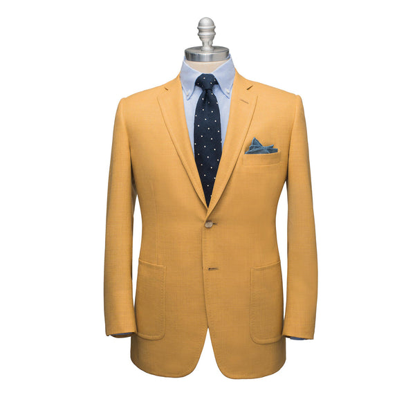 Tan Light Wool Hopsack Sport Coat