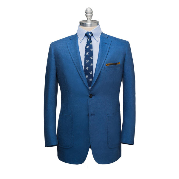 Blue Silk & Linen Sport Coat