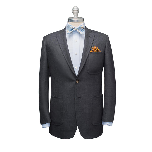 Charcoal Light Wool Hopsack Sport Coat