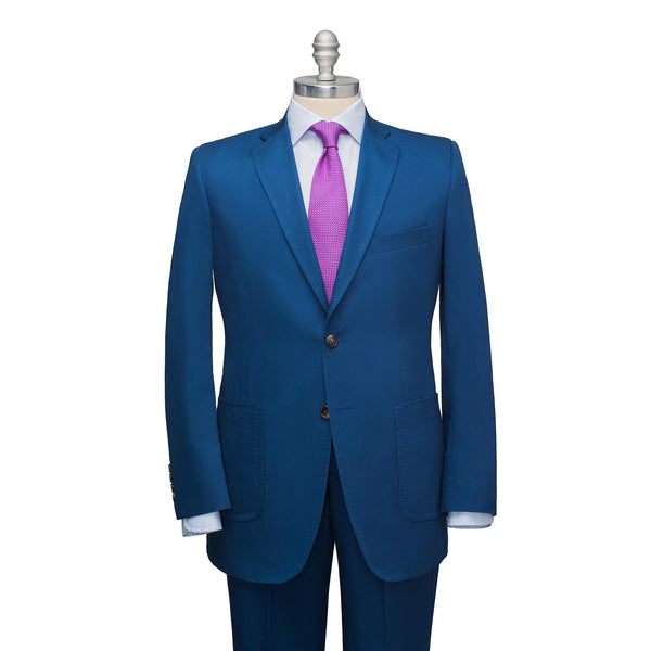 Blue Cotton Chino Suit
