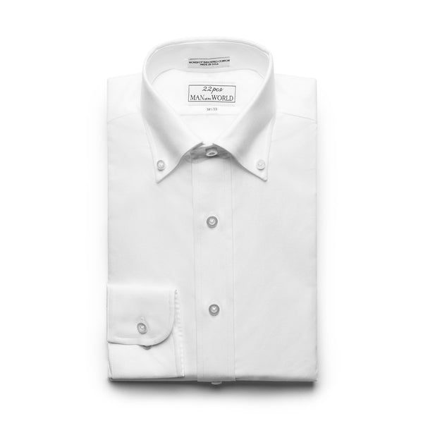 White Oxford Button-down Collar Shirt